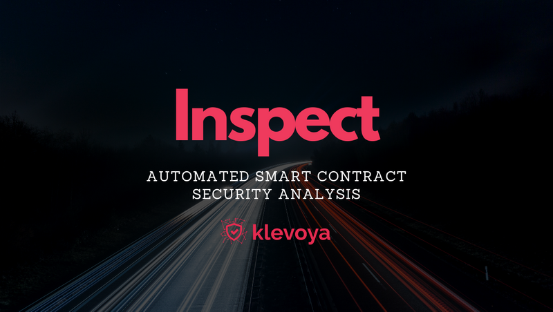 Klevoya brings the power of automated vulnerability analysis to EOSIO smart contracts
